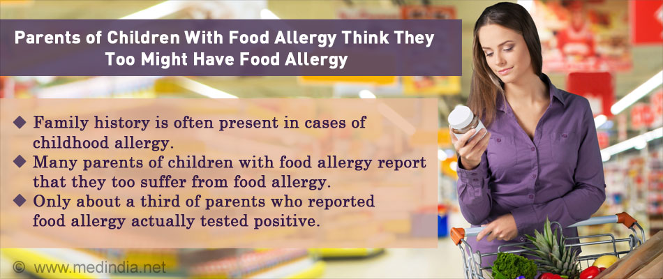 Parents of Kids With Food Allergies Feel They Might be Allergic Too