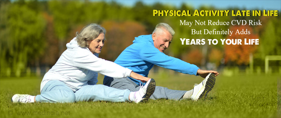 Starting Physical Activity Late in Life Could Lead to Less Cardiovascular Benefits
