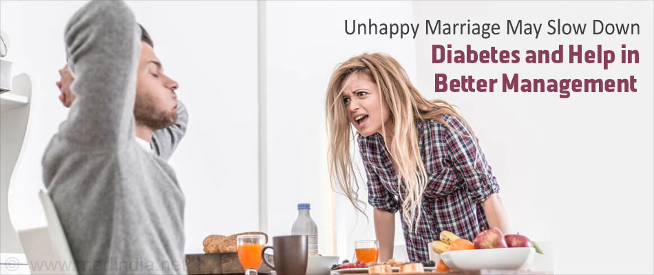 Diabetes Risk Decreases Among Men Living in an Unhappy Marriage