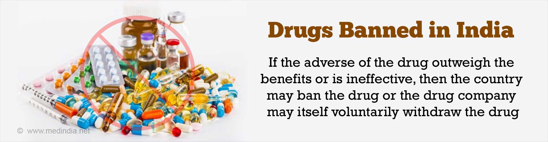 Banned Drugs / Drugs Banned in India / List of Banned Drugs