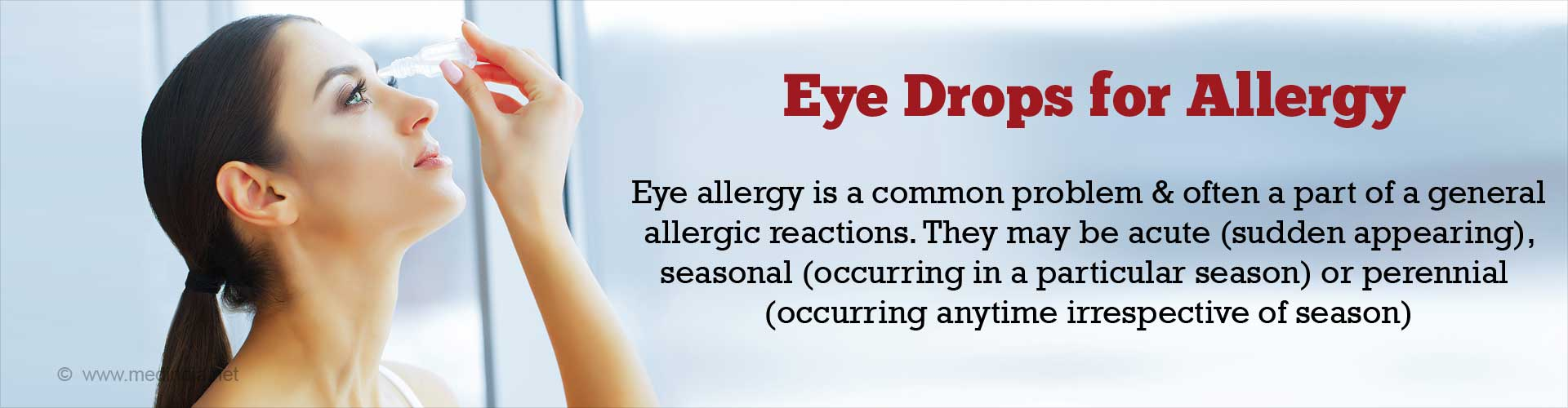 Allergy Eye drops - Types & How to Use