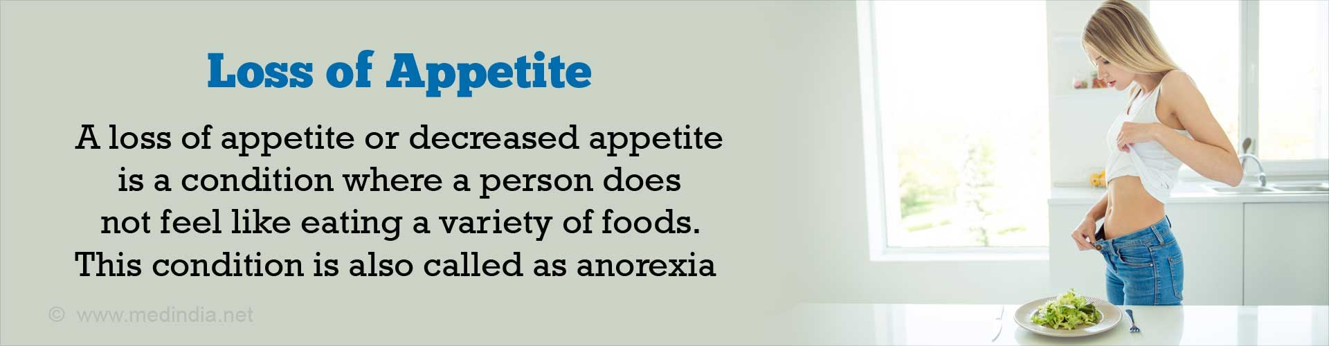 Loss of Appetite or Decreased Appetite - Symptom Evaluation