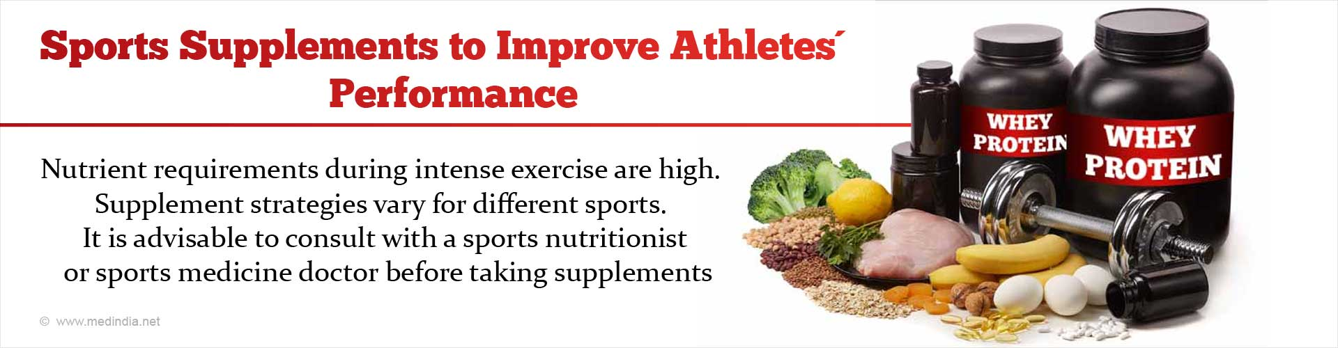 Best Sports Supplements to Improve Athletes´ Performance