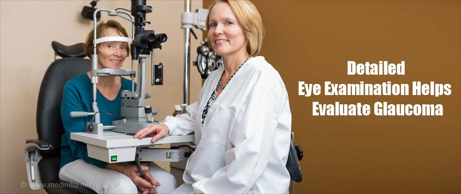 A Detailed Eye Examination Help Evaluate Glaucoma
