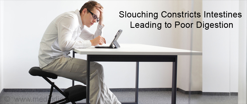 Slouching Constricts Intestines Leads to Poor Digestion