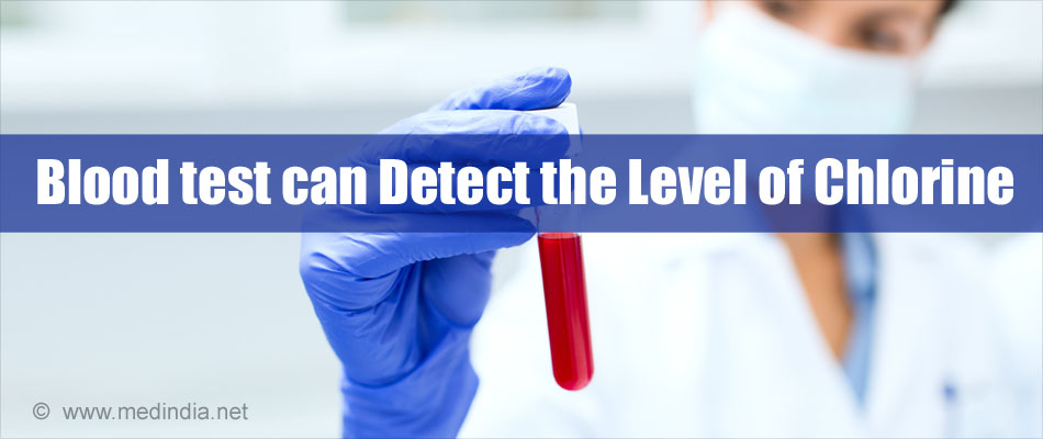 Blood Test can Detect the Level of Chlorine