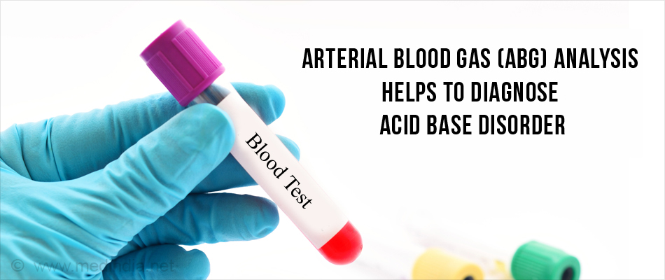 Blood Tests Helps to Diagnose Acid Base Disorder