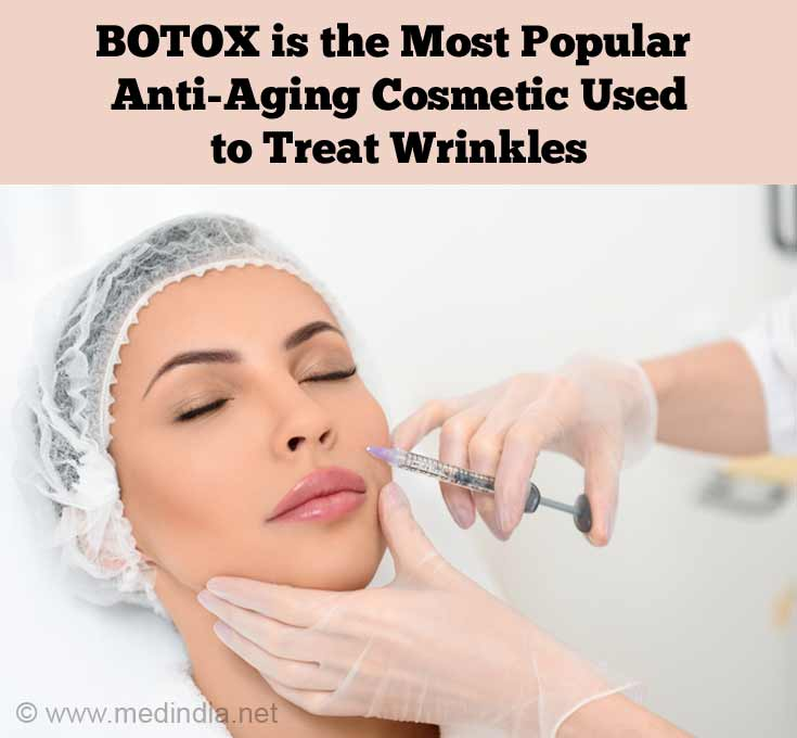 BOTOX is the Most Popular Anti-Aging Cosmetic Used to Treat Wrinkles