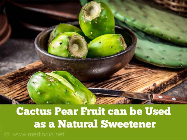 Cactus Pear Fruit can be Used as a Natural Sweetener