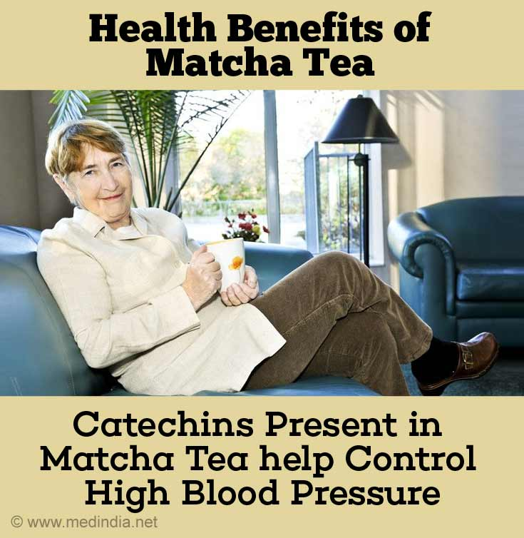 Catechins Present in Matcha Tea Help Control Hypertension and Thereby Decrease the Risk of Stroke and Heart Disease