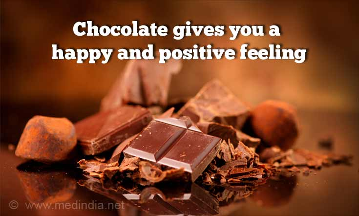 Chocolate Gives You a Happy And Positive Feeling