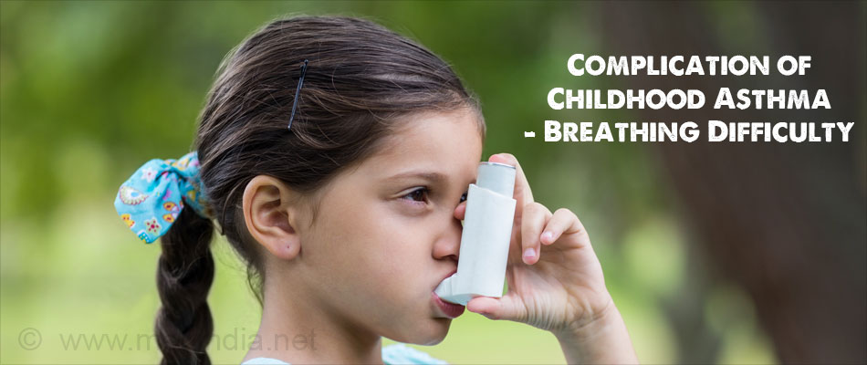 Complication of Childhood Asthma - Breathing Difficulty