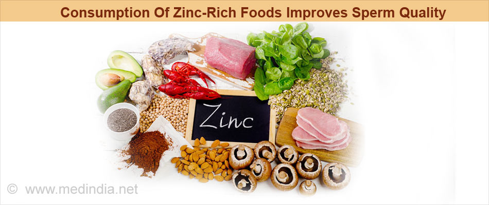Consumption Of Zinc-Rich Foods Improve Sperm Quality