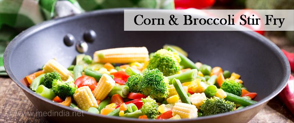 Corn & Broccoli Stir Fry
