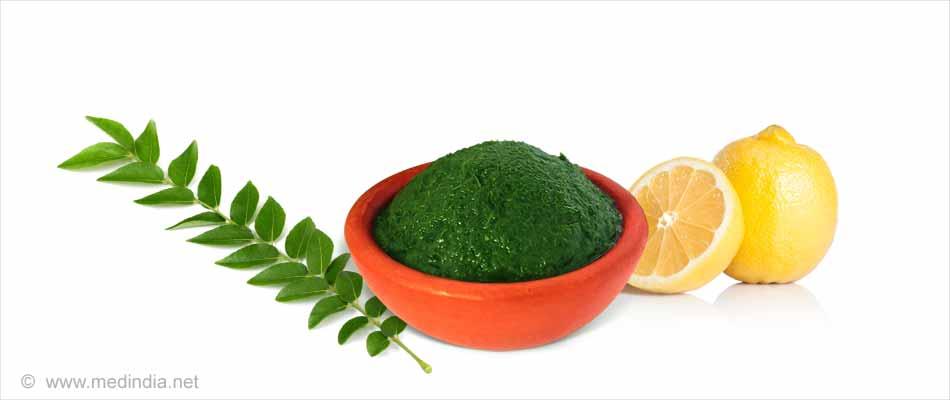 Curry-Blätter zur Stärkung der Haarwurzeln
