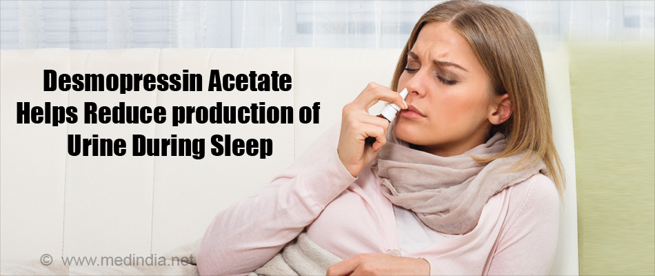 Desmopressin Acetate Helps Reduce production of Urine During Sleep