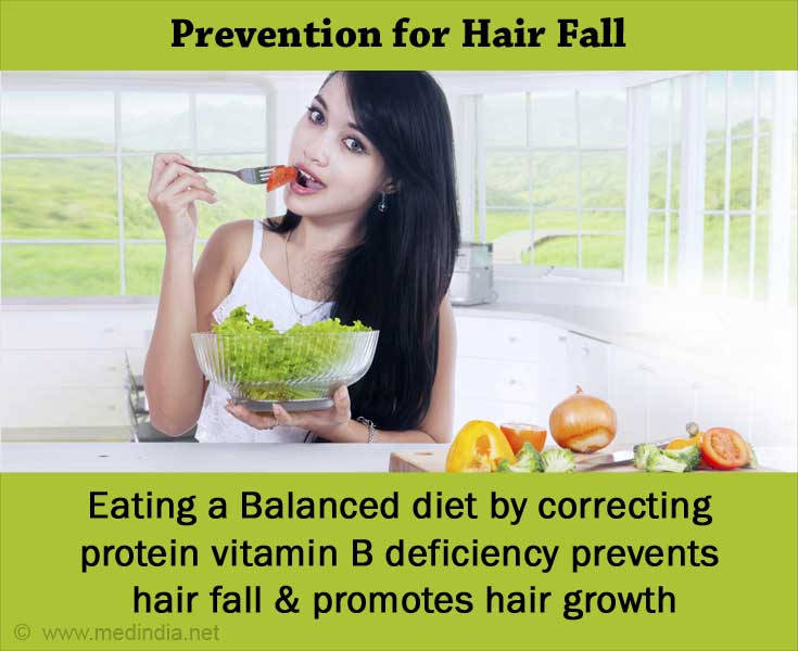 Eat a Well-balanced Diet to Prevent Hair Fall