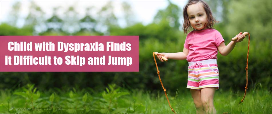 Dyspraxia Child Finds Diffcult to Skip and Jump