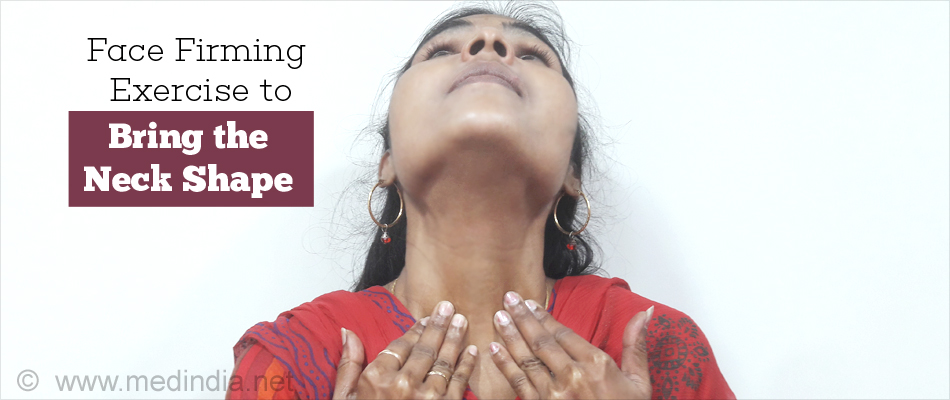 Face Firming Exercise to Bring the Neck Shape
