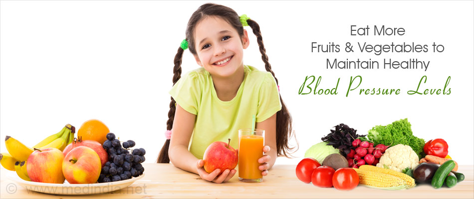 Eat More Fruits and Vegetables to Maintain Healthy Blood Pressure Levels