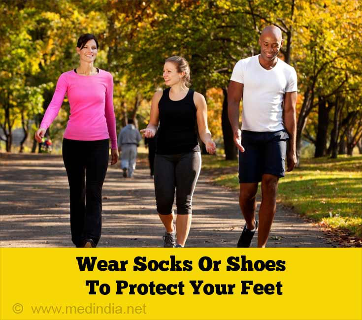 Wear Socks Or Shoes To Protect Your Feet