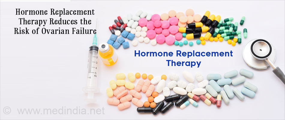 Hormone Replacement Therapy Reduces the Risk of Ovarian Failure