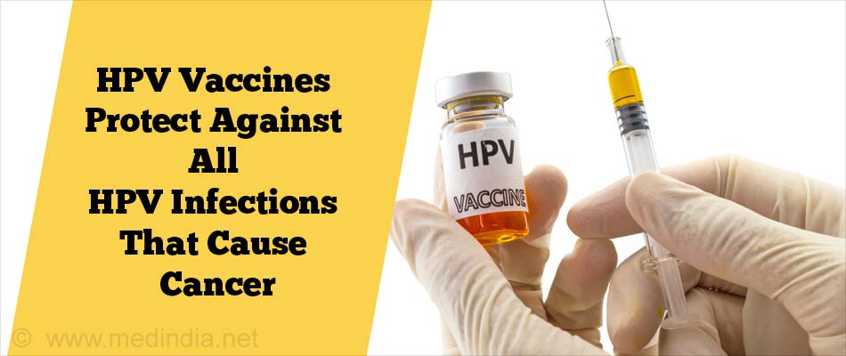 HPV Vaccines Protects Against All HPV Infections That Cause Cancer