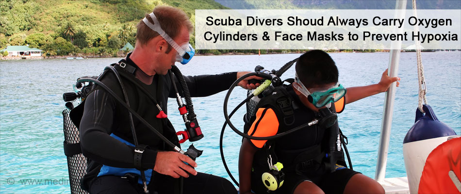 Scuba Divers Shoud Always Carry Oxygen Cylinders & Face Masks to Prevent Hypoxia