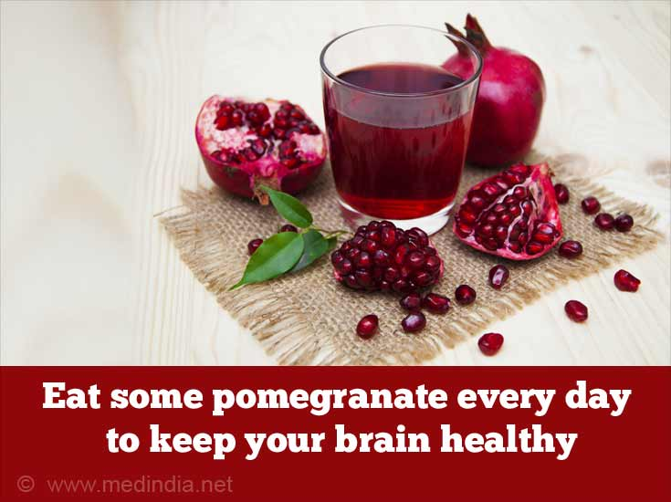 Foods to Improve Memory Power: Pomegranate