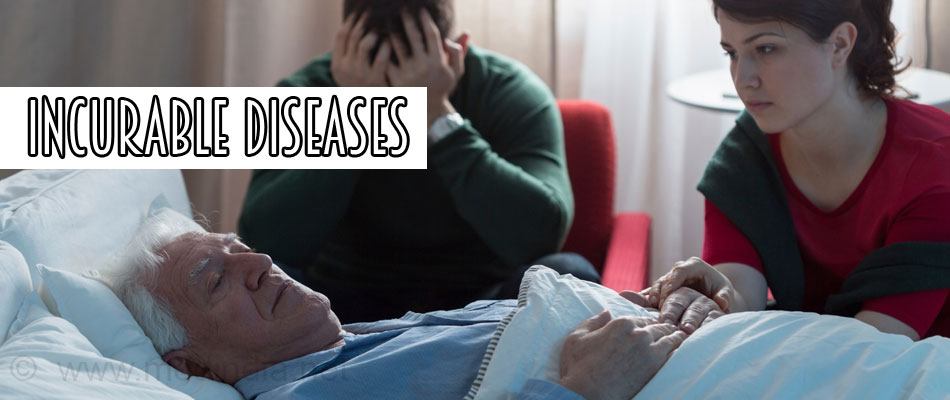 incurable contagious diseases An incurable disease may or may not be a terminal illness conversely, a curable illness can still in complex diseases, such as cancer, researchers rely on statistical comparisons of disease-free.