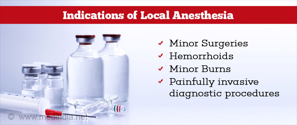 Indications for Local Anaesthesia