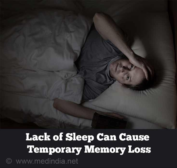 Lack of Sleep Can Cause Temporary Memory Loss
