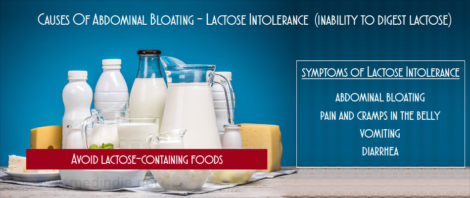Causes of Abdominal Bloating - Lactose Intolerance