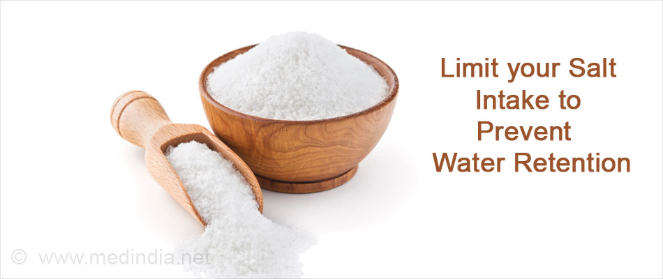 Limit your Salt Intake to Prevent Water Retension