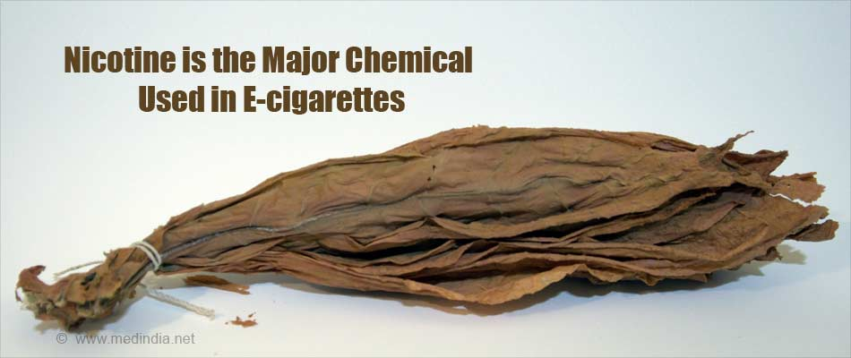Nicotine is the Major Chemical Used in E-cigarettes