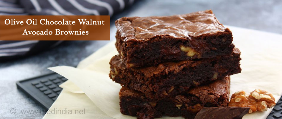 Olive Oil Chocolate Walnut Avocado Brownies