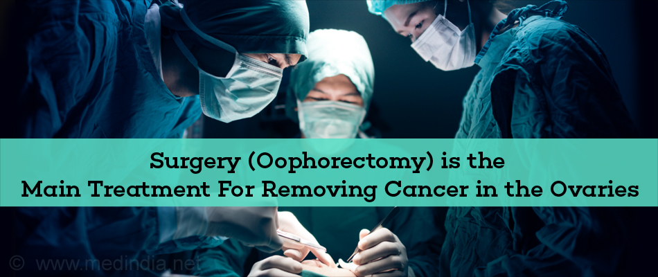 Surgery (Oophorectomy) is the Main Treatment For Removing Cancer in the Ovaries