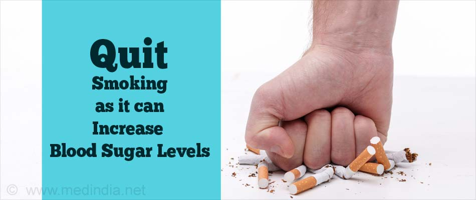 Quit Smoking as it Can Increase Blood Sugar Levels