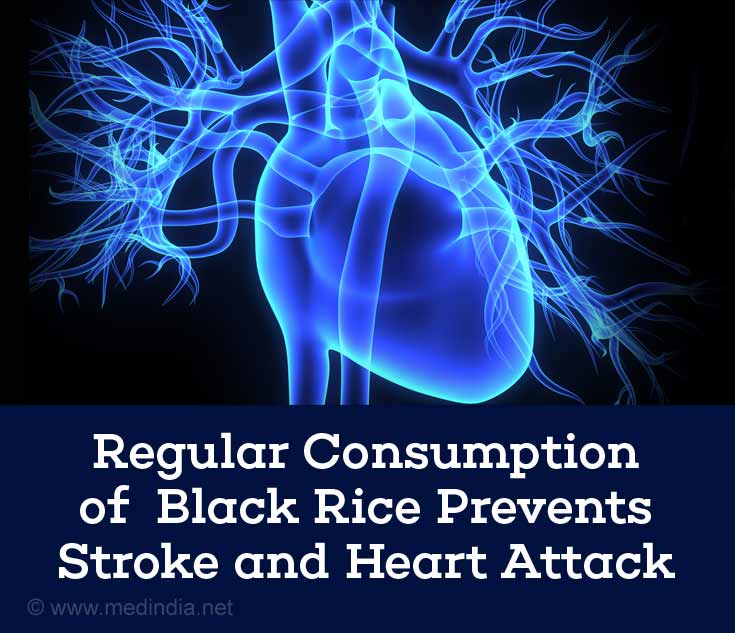 Regular Consumption of Black Rice Prevents Stroke and Heart Attack