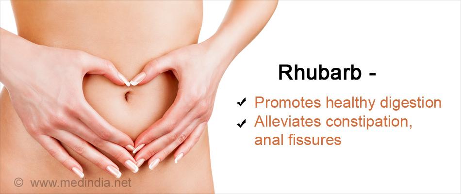 Rhubarb Promotes Healthy Digestion
