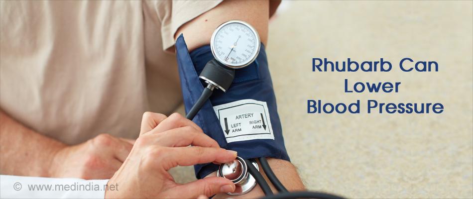 Rhubarb Lowers Blood Pressure