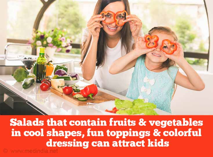 Health Benefits of Salads: Special Salads for Kids