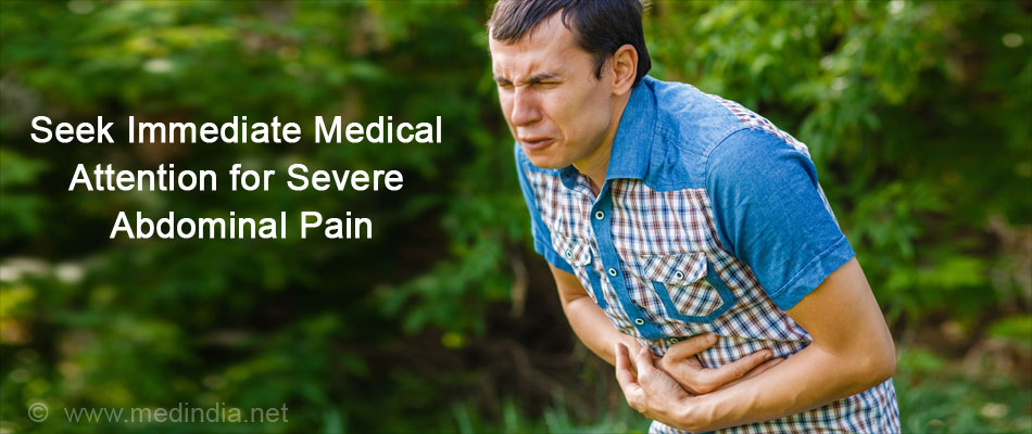 Seek Immediate Medical Attention for Severe Abdominal Pain