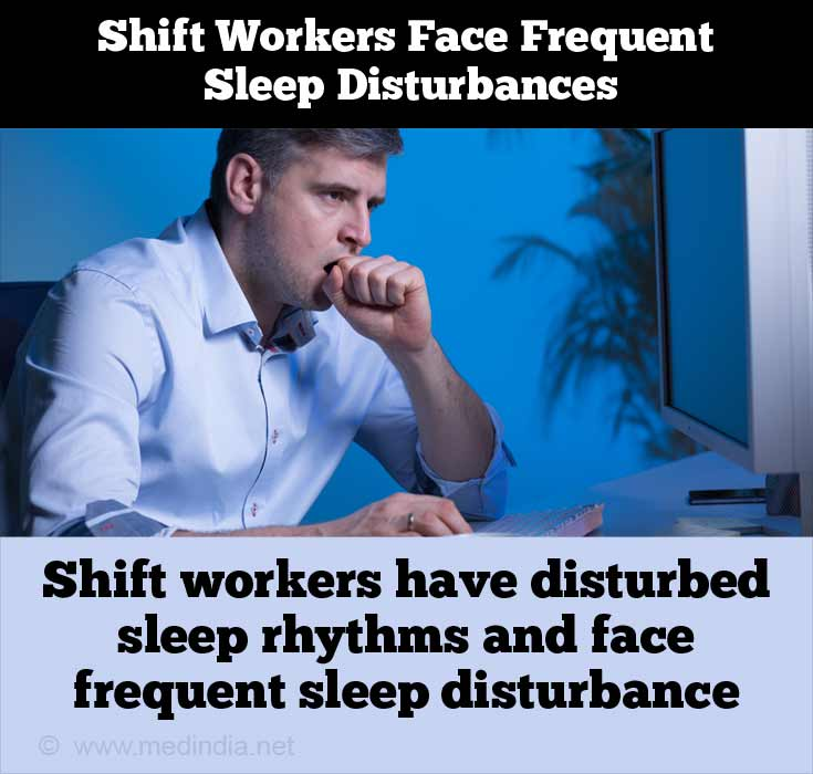 Shift Workers Face Frequent Sleep Disturbances