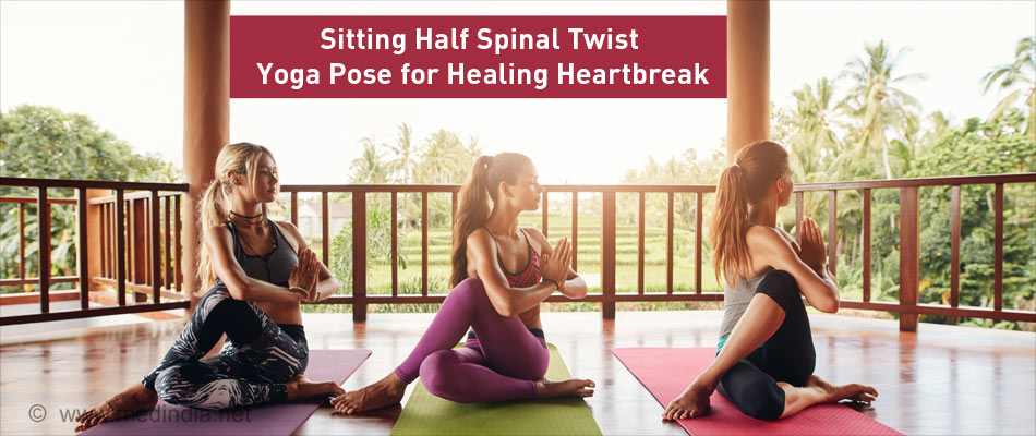 Sitting Half Spinal Twist Yoga Pose for Healing Heartbreak