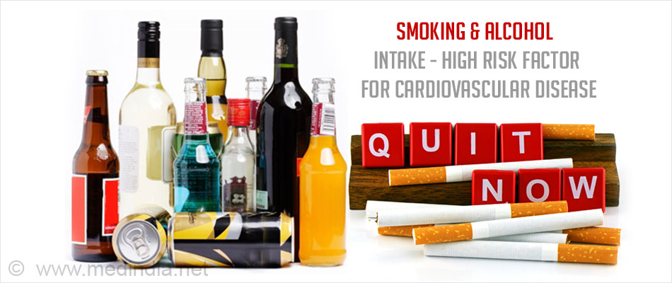 Smoking and Alcohol Intake - High Risk Factor for Cardiovascular Disease