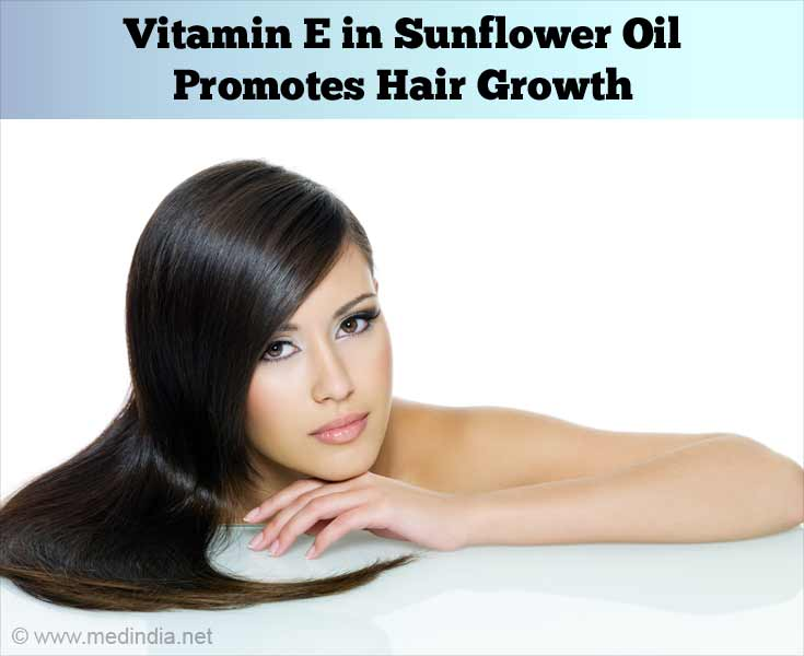 Vitamin E in Sunflower Oil Promote Hair Growth