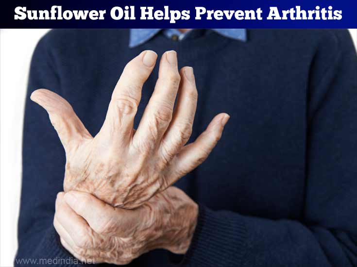 Sunflower Seed Oil Helps Prevent Arthritis