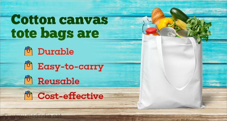 Switch to Reusable Cotton Tote Bags Instead of Plastic Bags
