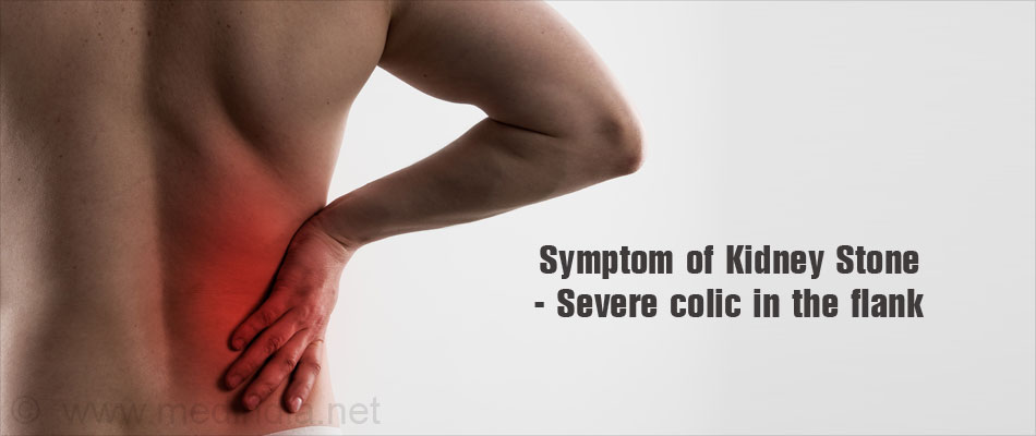 Symptom of Kidney Stone - Severe Pain